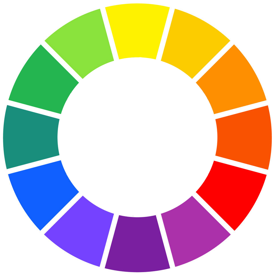 all the colors in the rainbow spectrum